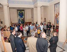 Открытие благотворительной выставки в Русской часовне Президентского Дворца на Мальте