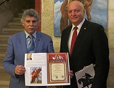 Открытие выставки Международной академии культуры и искусства на Мальте