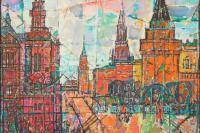 Н.П. Крутов. Красная площадь. 2010, холст, масло, 130х140